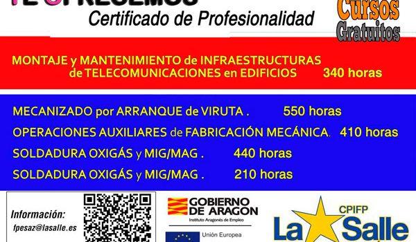 Nuevos cursos para obtener certificados de profesionalidad