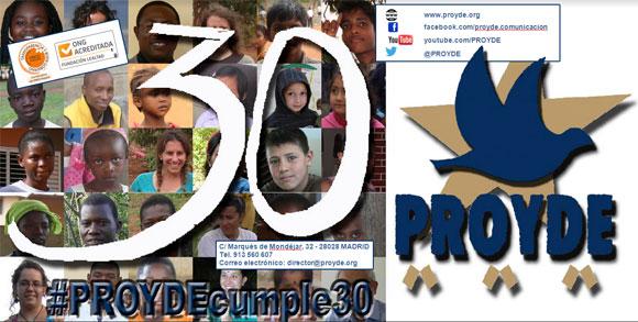 30 aniversario de nuestra ONG PROYDE