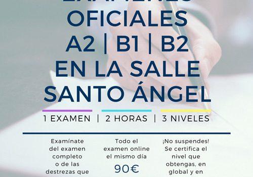 CURSOS Y PREPARACIÓN DE EXAMEN A2-B1-B2 EN NUESTRO COLE PARA EL CURSO QUE VIENE