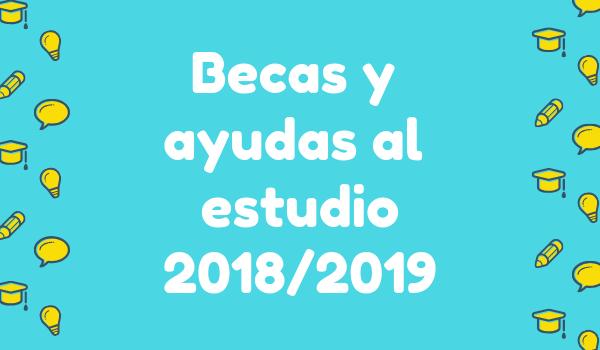 Becas y ayudas al estudio 2018/2019