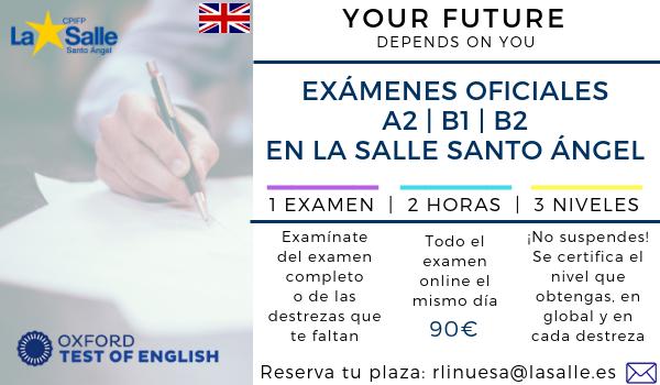 Ya se puede reservar plaza para el próximo examen de certificación de Inglés
